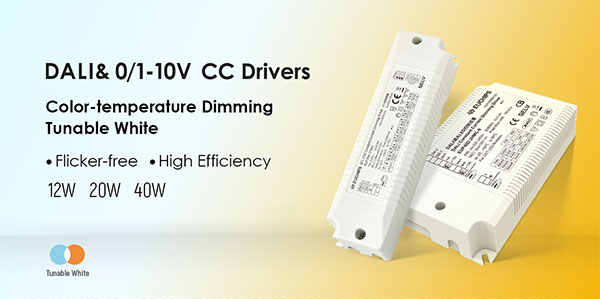 DALI & 0/1-10V LED Dimmable drivers for color-temperature dimming