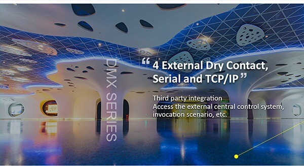 4 External Dry Contact, Serial and TCP/IP